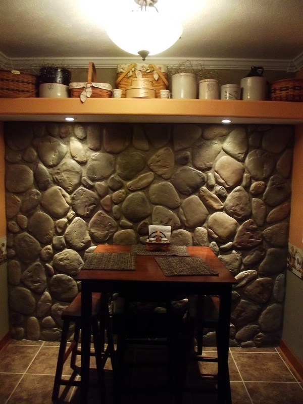 stone wall hand built